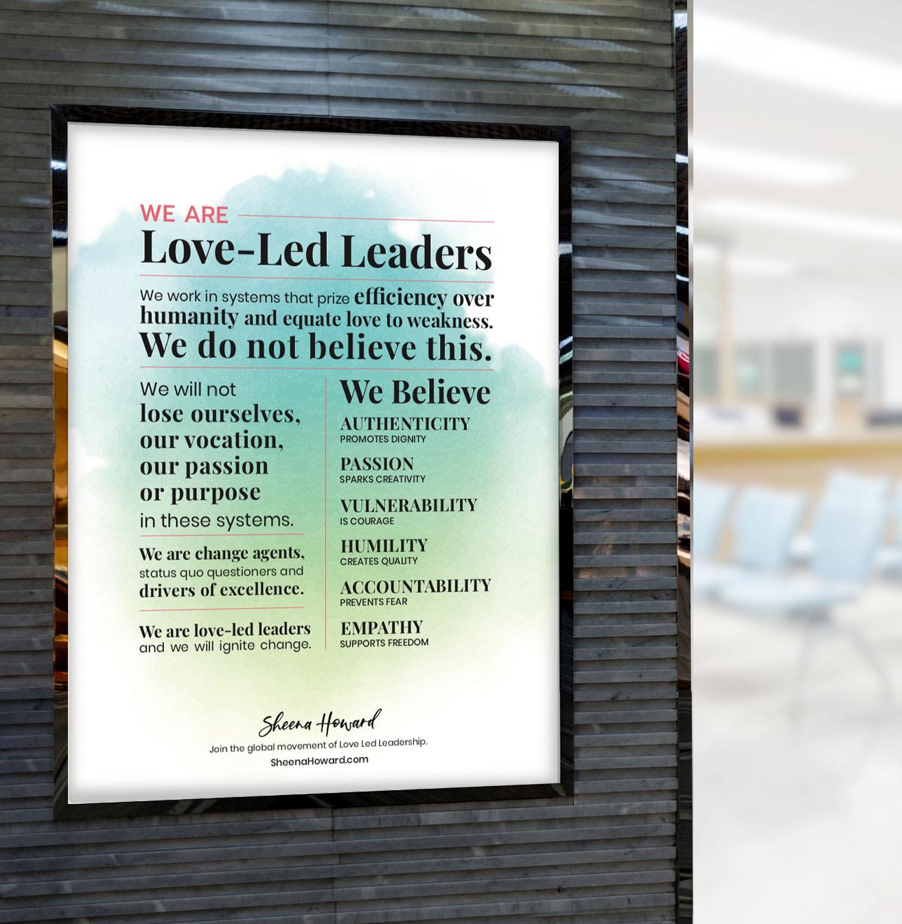 Love-Led Leadership Manifesto Poster